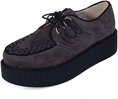 Creepers para Hombre Cordones Plataforma Gótico Punk Cuero Oxfords: Amazon.es: Zapatos y complementos