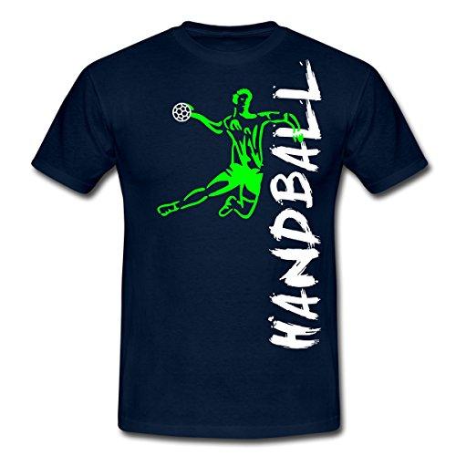 Handball Männer T-Shirt von Spreadshirt®, XL, Navy