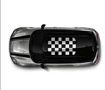 Original Mini Mini Clubman Roof Design in Black/White Chequered Flag design New