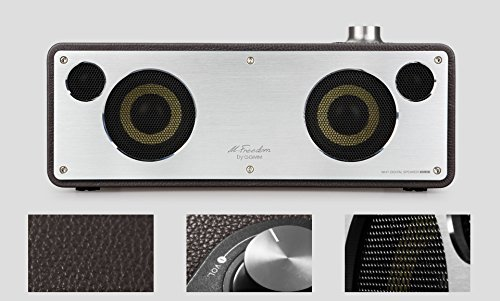 GGMM M-Freedom Wireless Plug-n-Play Built-in WiFi Home Audio Leather Speaker (Compatible with Apple Products)| 30W Output, Supports Airplay, DLNA, Spotify, Pandora (Tan) by GGMM (Image #4)