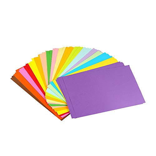 Colored Paper Colored A4 Copy Paper Paper more Fun at Crafting Decorating Cut-to-size Paper 100 Sheets 10 Different Colors for DIY Art Craft (20 30cm) ()
