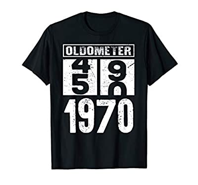 Oldometer 49 50 Born In 1970 Funny Birthday Dad Gift T-Shirt