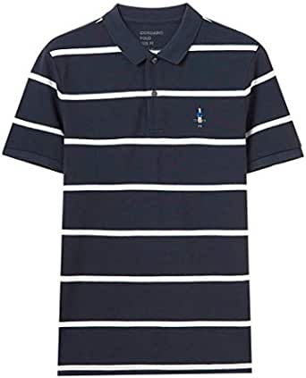 Giordano Polo T-Shirt for Men, Size L horizontal stripped
