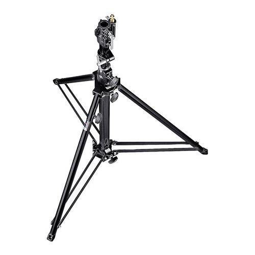 Manfrotto 070BU Black Follow Spot Stand with Leveling Leg -.