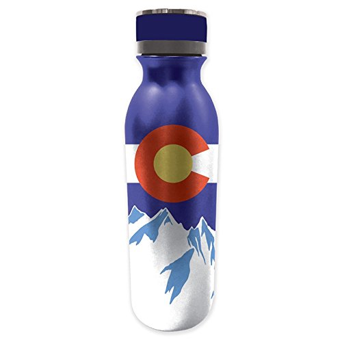 Evergreen Stainless Steel Water Bottle, Colorado State Pride