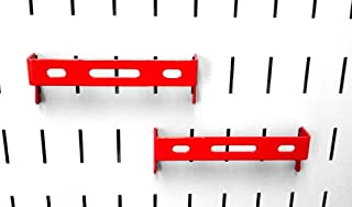 product image for Wall Control Pegboard 1in x 4in C-Bracket Slotted Metal Pegboard Hook for Wall Control Pegboard and Slotted Tool Board – Red