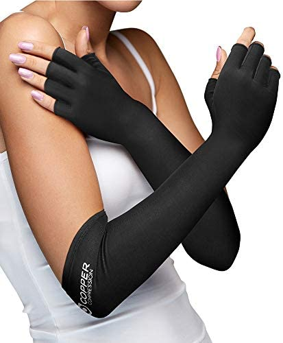 Copper Compression Long Arthritis Gloves product image