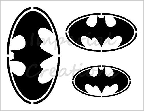 BATMAN 3 Sizes Bat Logo Superhero Comic Cartoon 8.5
