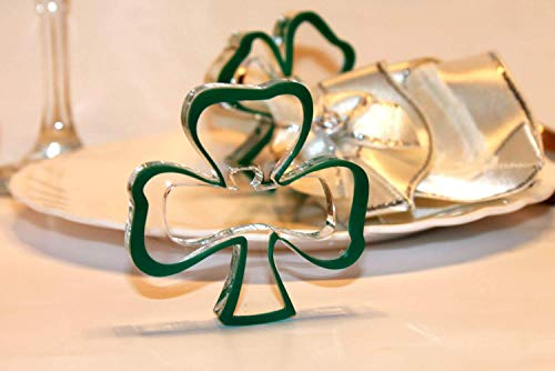 Amazoncom Set Of Green Napkin Ring Holders Shamrocks