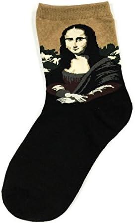 Bowbear Womens 5-Pair Famous Painting Art Pattern Socks