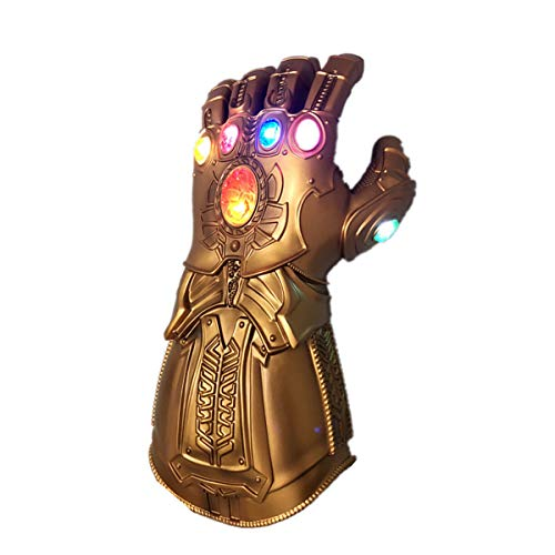 BengPro Infinity War PVC Light Up Gloves Electronic Fist Halloween Cosplay Props (Light Up Glove - Child)]()