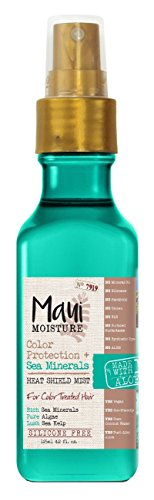 Matrix Daily Leave - Maui Moisture Color Protection + Sea Minerals Heat Shield Mist (4.2 Ounce Bottle); Silicone Free Mist Helps Control Frizz and Leave Hair Looking Smooth, Healthy and Shining Non-GMO