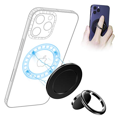 SUPERONE for MagSafe Phone Ring Holder,【Wireless Charging Compatible】 Compatible with iPhone 12/12 Pro/12 Pro Max/12 Mini and Magnetic Case【Phone Ring Holder Included】
