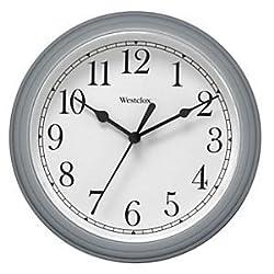 CLO 8.5 PLASTIC WALL CLOCK SILVER (46984A) -