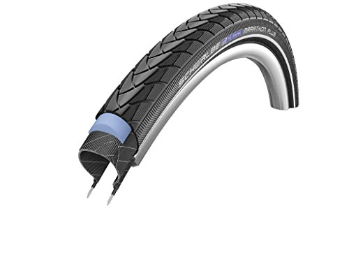 Schwalbe Marathon Plus HS 440 SmartGuard Cross/Hybrid Bike Tire - Wire Bead (Black-Reflex - 650 x 35A) 650 Hybrid