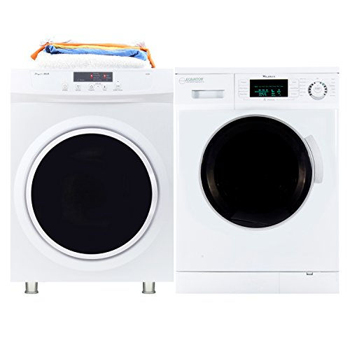Equator 1.6 Cu. Ft. High Efficiency Stackable Combo Washer and Dryer with Sensor Dry Option, in White
