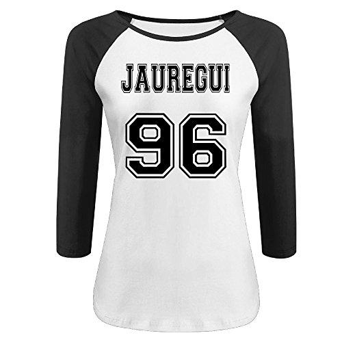 CALZ Women Lauren Jauregui 96 3/4 Sleeve Short Sleeve Tshirts XL Black