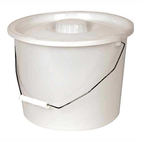 - PCP Commode Bucket with Lid and Handle, Grey