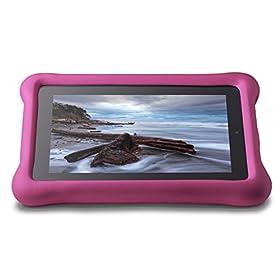 Amazon FreeTime - Funda para niños para tablets Fire (5ª generación - modelo de 2015), Rosa
