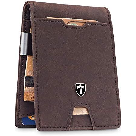 "TRAVANDO ® Wallet Mens with Money Clip ""Bogota"" RFID Blocking Slim Wallet – Credit Card Holder – Travel Wallet – Minimalist Mini Wallet Bifold for Men with Gift Box 41qfruysvIL"