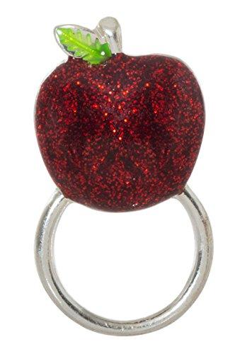 (Glittering Red Apple Magnetic Pin Eyeglass/ID Holder Brooch)