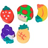 50pcs Lovely Environment-Friendly Mini Fruit-Shaped Colorful Erasers