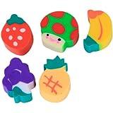50 pcs Mini Gommes Colorées en Forme de Fruits
