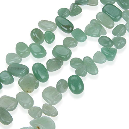 - AAA Natural Green Aventurine Gemstones Smooth Teardrop Loose Beads Free-form ~18x10mm beads ( ~16
