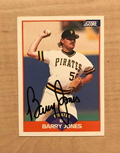 BARRY JONES PITTSBURGH PIRATES SIGNED AUTOGRAPHED 1989 SCORE CARD #333 W/COA