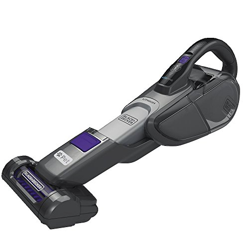 BLACK+DECKER HHVJ325BMP07 SMARTECH PET Cordless 10.8V Hand Vacuum with Scent and Base, 2.5 Ah