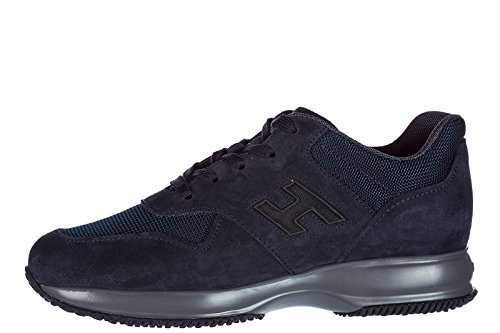 Hogan Mens Skor Mocka Utbildare Sneakers Blu