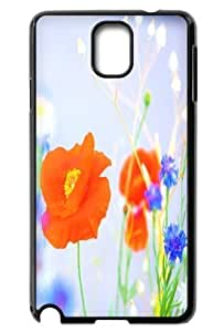 Great For Case Samsung Galaxy S5 Covers Beautiful poppy flower Back Covers Durable Case