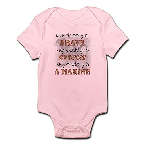 Daddy Marines (CafePress Daddy Is A Marine - Cute Infant Bodysuit Baby Romper)