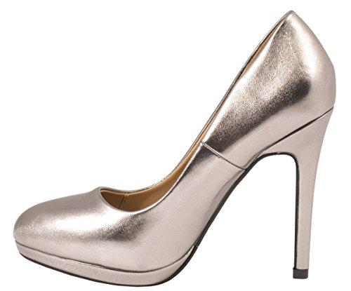 Elara - Plataforma Mujer Dunkel Silber