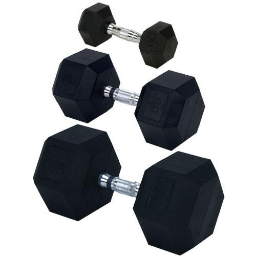 35 lbs dumbell rubber - 6