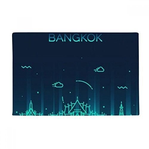 Thai Customs Culture Shadow Bangkok Anti-slip Floor Mat Carpet Bathroom Living Room Kitchen Door 16''x30''Gift by BeatChong