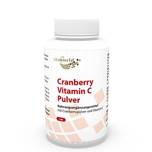 Vita World Cranberry 400mg + Vitamin C 180 Kapseln Apotheken Herstellung