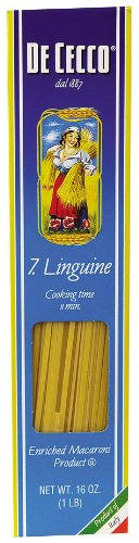 Dececco no.07 Linguine - 16 ounce - 20 per case.
