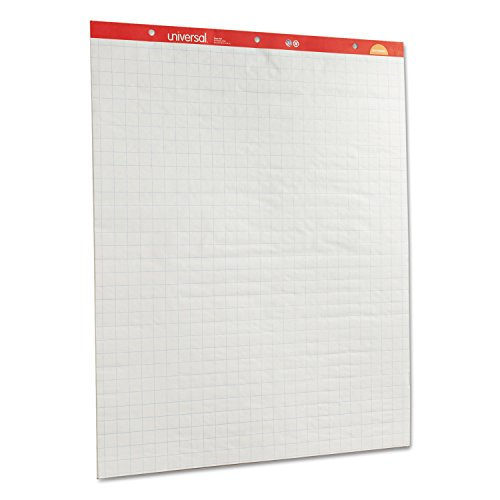 Universal 35602 Recycled Easel Pads, Quadrille Rule, 27 x 34, White, 50 Sheet 2/Ctn