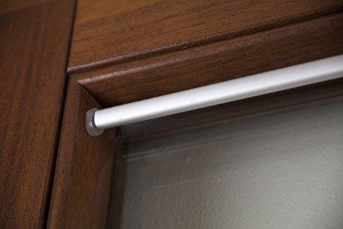 Bastoni Per Tende Con Ventose.Bastone Per Tenda In Alluminio Con Molla A Vite E Ventosa Nichel