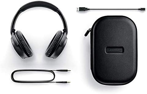 Bose QuietComfort 35 Series II Wireless Noise-Canceling Headphones (Black) (789564-0010) + AOM Bundle – International Version (1 Year AOM Warranty) 41qfvbAXK5L