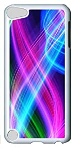 iPod Touch 5 Cases & Covers - Abstract Colorful Lines Custom PC Soft Case Cover Protector for iPod Touch 5 - White