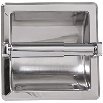 Arista Bath Products Recessed Toilet Paper Holder, Chrome
