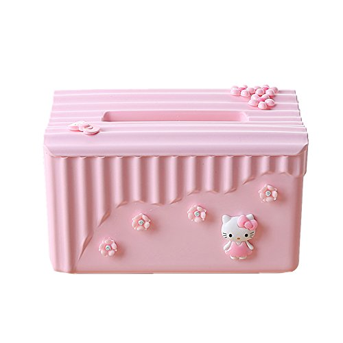 YOURNELO Creativity Hello Kitty Tissue Box Roll Holder for Home - Home Accessories Hello Kitty