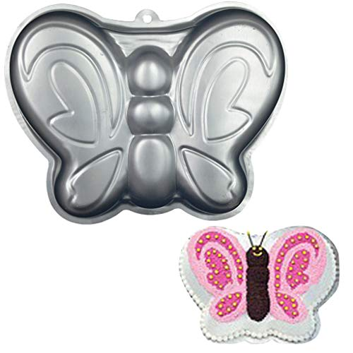 -  Orcbee  _Cake Mold Doll Princess Butterfly Cake Decor Aluminum Cake Baking Tray for Wedding Birthday Party (12)