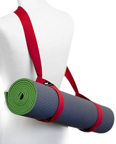 - Pelikus Yoga Mat Sling Carry Strap – Adjustable, Durable, Cotton (Red)