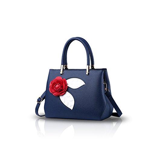 NICOLE&DORIS Women Fashion Simple Handbag Crossbody Shoulder Purse Small Bag Cute Totes Soft PU Pink Blue