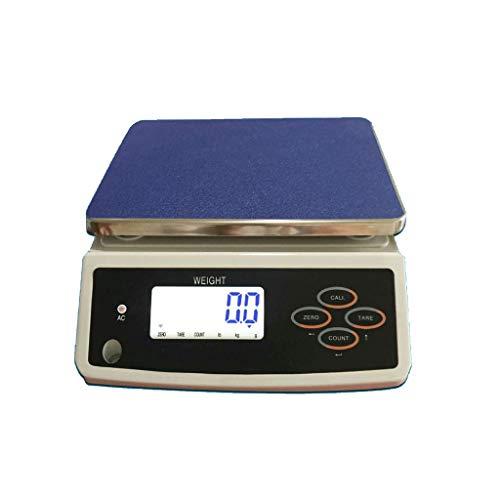 Zyy Balanza Electrónica, Pantalla LCD Llamada De Alta Precisión con Conteo De Tabla De 30 Kg / 1 G Balance De Precisión...