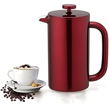 French Press Tabletop Coffee And Tea Maker Stainless Steel 48 Oz