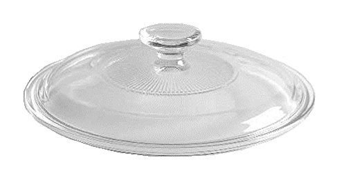 (Corning Ware / Pyrex Clear Round Glass Lid ( Ribbed ) ( 8 3/8